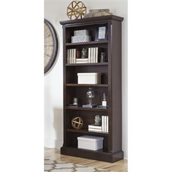 Ashley Porter 6 Shelf Large Bookcase in Brown