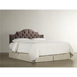 Homeware Vienna Queen Upholstered Headboard in Chocolate