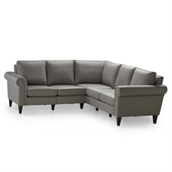 Homeware Avery 5 Seat Corner Sectional in Nickel