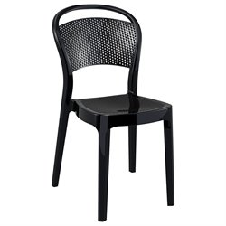 Compamia Bee Polycarbonate Patio Dining Chair in Glossy Black