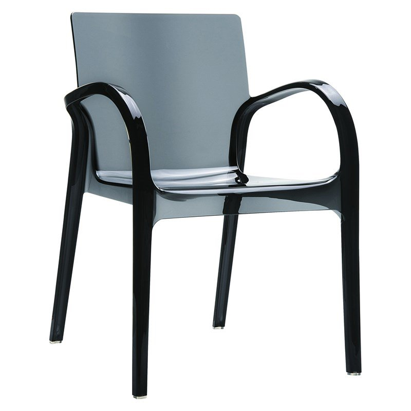 Charmant Compamia Dejavu Polycarbonate Patio Dining Chair In Transparent Black
