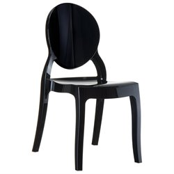 Compamia Elizabeth Polycarbonate Patio Dining Chair in Glossy Black