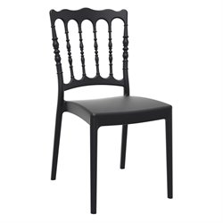 Compamia Napoleon Patio Dining Chair in Black