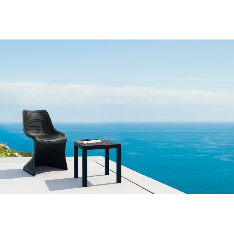 Compamia Bloom Patio Dining Chair in Black