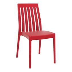 Compamia Soho Patio Dining Chair in Red