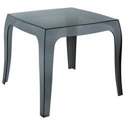 Compamia Queen Polycarbonate Patio Side Table in Transparent Black