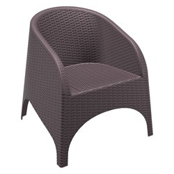 Compamia Aruba Resin Wickerlook Patio Chair in Brown
