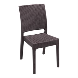 Compamia Florida Resin Wickerlook Patio Dining Chair in Brown
