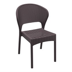 Compamia Daytona Resin Wickerlook Patio Dining Chair in Brown