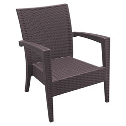 Compamia Miami Resin Club Chair in Brown