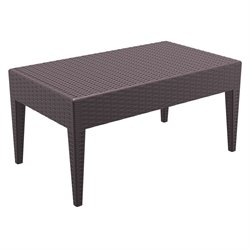 Compamia Miami Resin Patio Coffee Table in Brown