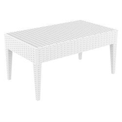 Compamia Miami Resin Patio Coffee Table in White
