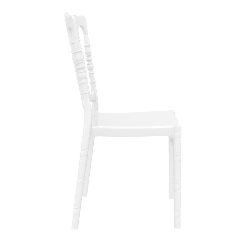 Compamia Opera Patio Dining Chair in Glossy White