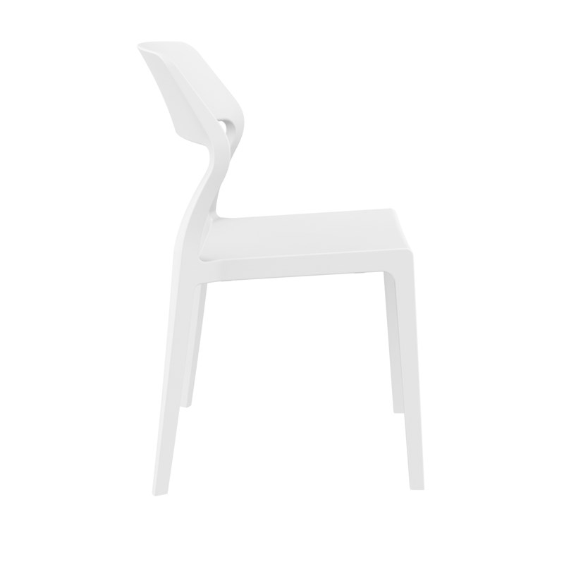 Compamia Snow Patio Dining Chair in White