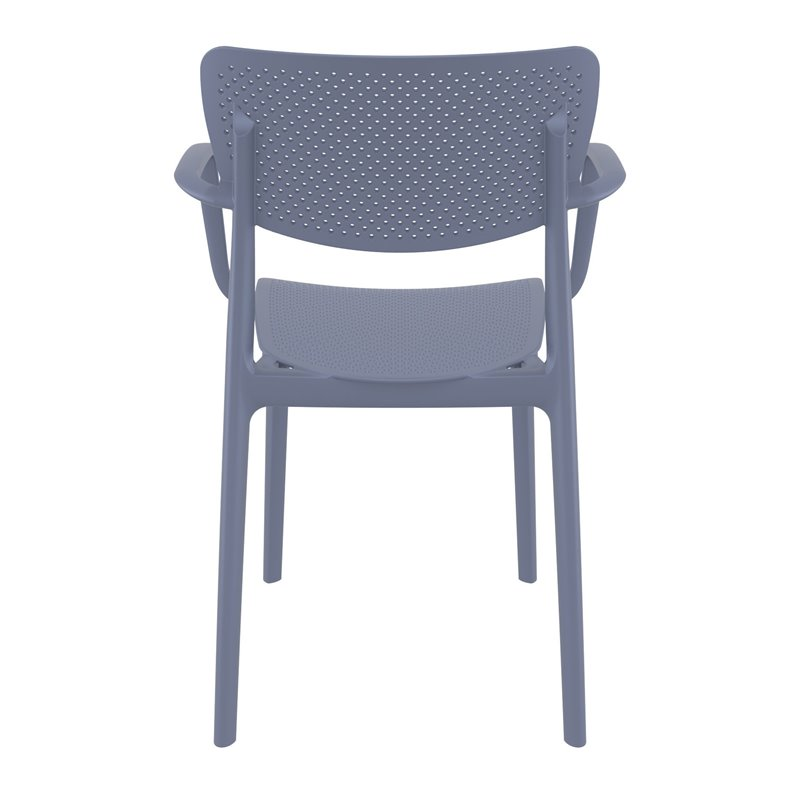 Compamia Loft Dining Arm Chair in Dark Gray