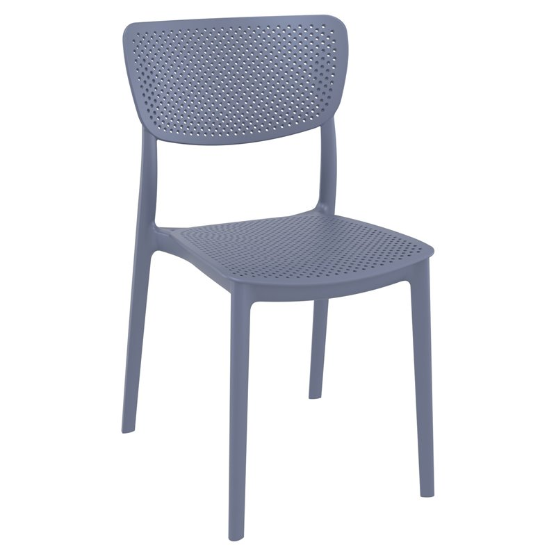 Compamia Lucy Dining Chair in Dark Gray Finish