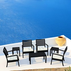 Compamia Artemis XL Club Seating Set 7 Piece in Black