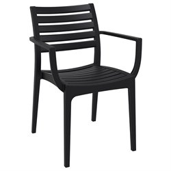 Compamia Artemis Outdoor Dining Arm Chair in Black