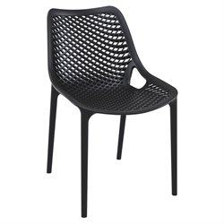 Compamia Air Outdoor Patio Dining Chair in Black