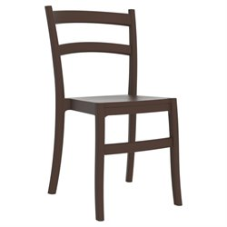 Compamia Tiffany Patio Dining Chair in Brown