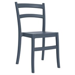 Compamia Tiffany Patio Dining Chair in Dark Gray