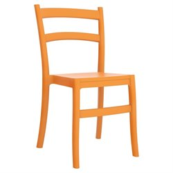 Compamia Tiffany Patio Dining Chair in Orange