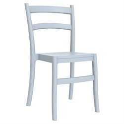 Compamia Tiffany Patio Dining Chair in Silver Gray
