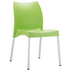 Compamia Vita Resin Outdoor Patio Dining Chair in Apple Green