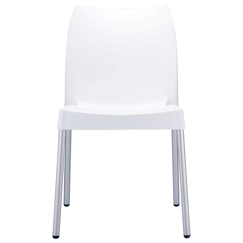 Compamia Vita Resin Outdoor Patio Dining Chair in White