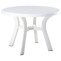 Compamia Truva Resin Round Dining Table 42 inch in White