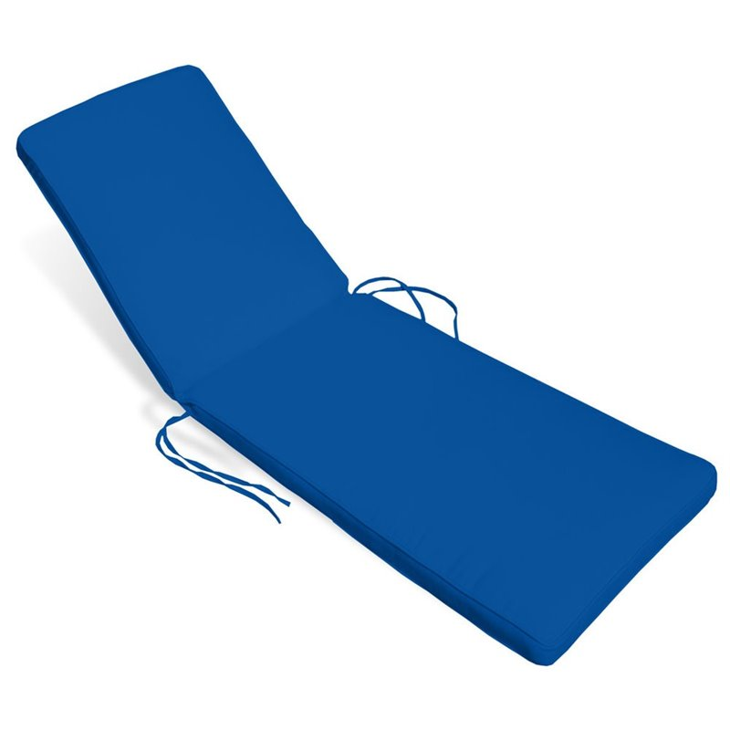 Compamia sunlight chaise lounge cushion in pacific blue for Blue chaise cushions