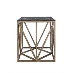 Universal Furniture Authenticity Truss Square End Table in Khaki