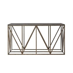 Universal Furniture Authenticity Truss Console Table in Khaki