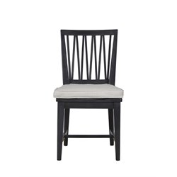 Universal Furniture Authenticity Side Chair in Black Denim