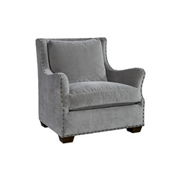Universal Furniture Curated Connor Velvet Arm Chair in Gray