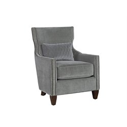 Universal Furniture Curated Barrister Velvet Arm Chair in Gray
