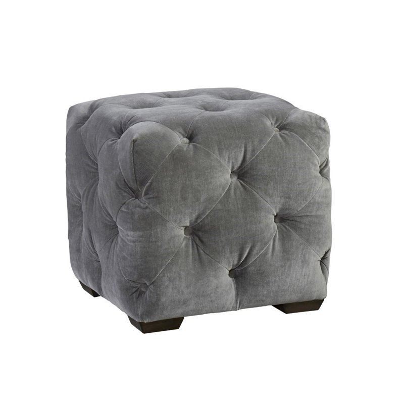 Universal Furniture Curated Barkley Velvet Tufted Cube