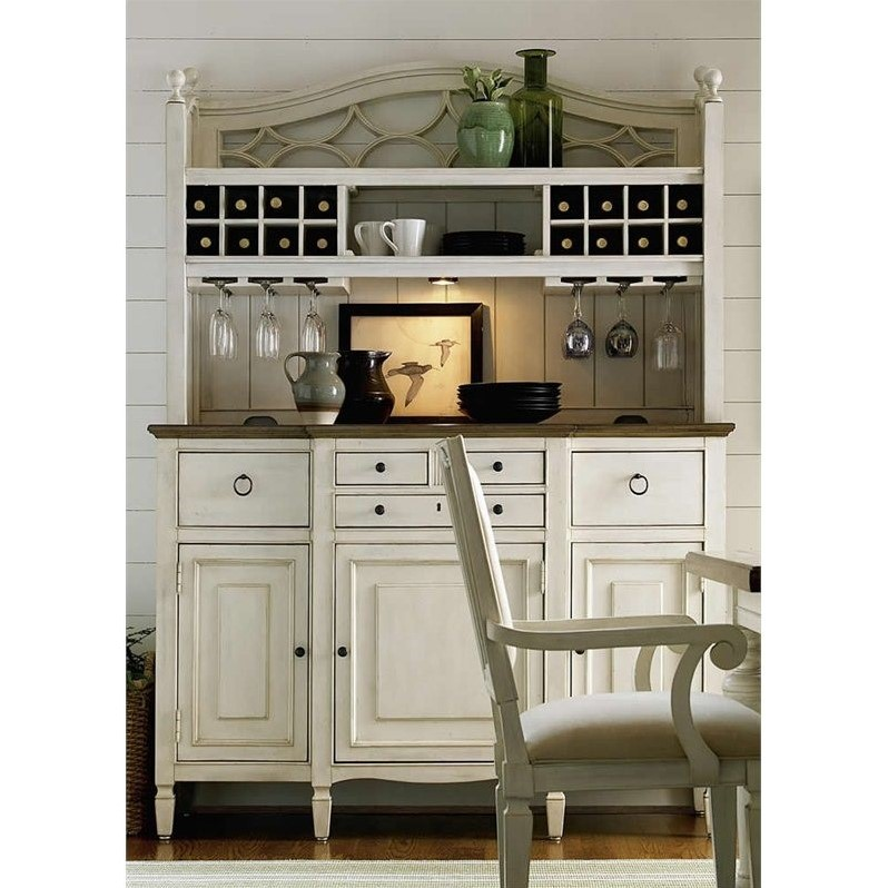 Universal Furniture Summer Hill Buffet With Bar Hutch In Cotton 987670c