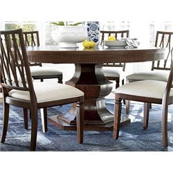 Universal Furniture Silhouette Round Dining Table in Truffle