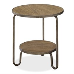 Universal Furniture Moderne Muse Round End Table in Bisque