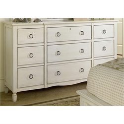 Universal Furniture Summer Hill Nine Drawer Dresser in Cotton