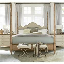 Universal Furniture Moderne Muse Maison Poster Bed in Bisque - Queen