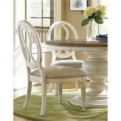 Universal Furniture Summer Hill Pierced Back Side Chair in Cotton