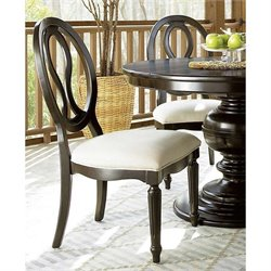 Universal Furniture Summer Hill Pierced Back Side Chair in Midnight