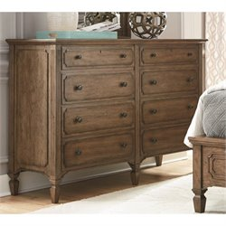 Universal Furniture Remix Double 8 Drawer Dresser in Bannister