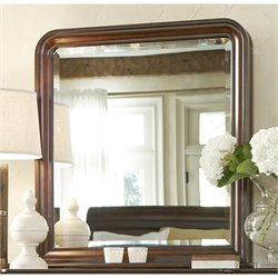 Universal Furniture Reprise Vertical Storage Mirror in Rustic Cherry