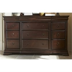 Universal Furniture Reprise 12 Drawer Dresser in Rustic Cherry
