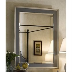 Universal Furniture Sojourn Mirror in Summer White and Gray Lake