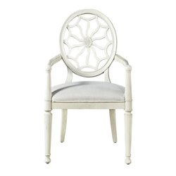 Universal Furniture Sojourn Dining Arm Chair in Summer White