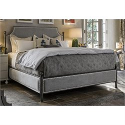 Universal Furniture Sojourn Queen Upholstered Bed in Metal